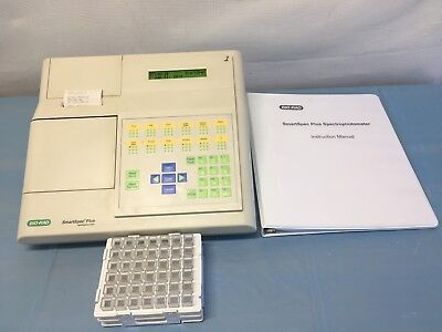 Mint Bio-rad Smartspec Plus Spectrophotometer 60-day Warranty Free Shipping