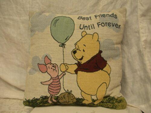 VTG Disney Winnie the Pooh Christopher Robin Tapestry Throw Pillow  12 x 12