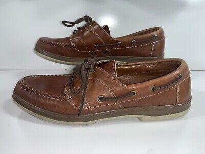 - Allen Edmonds Eastport Tan Deck Boat Shoes Men's 10 B