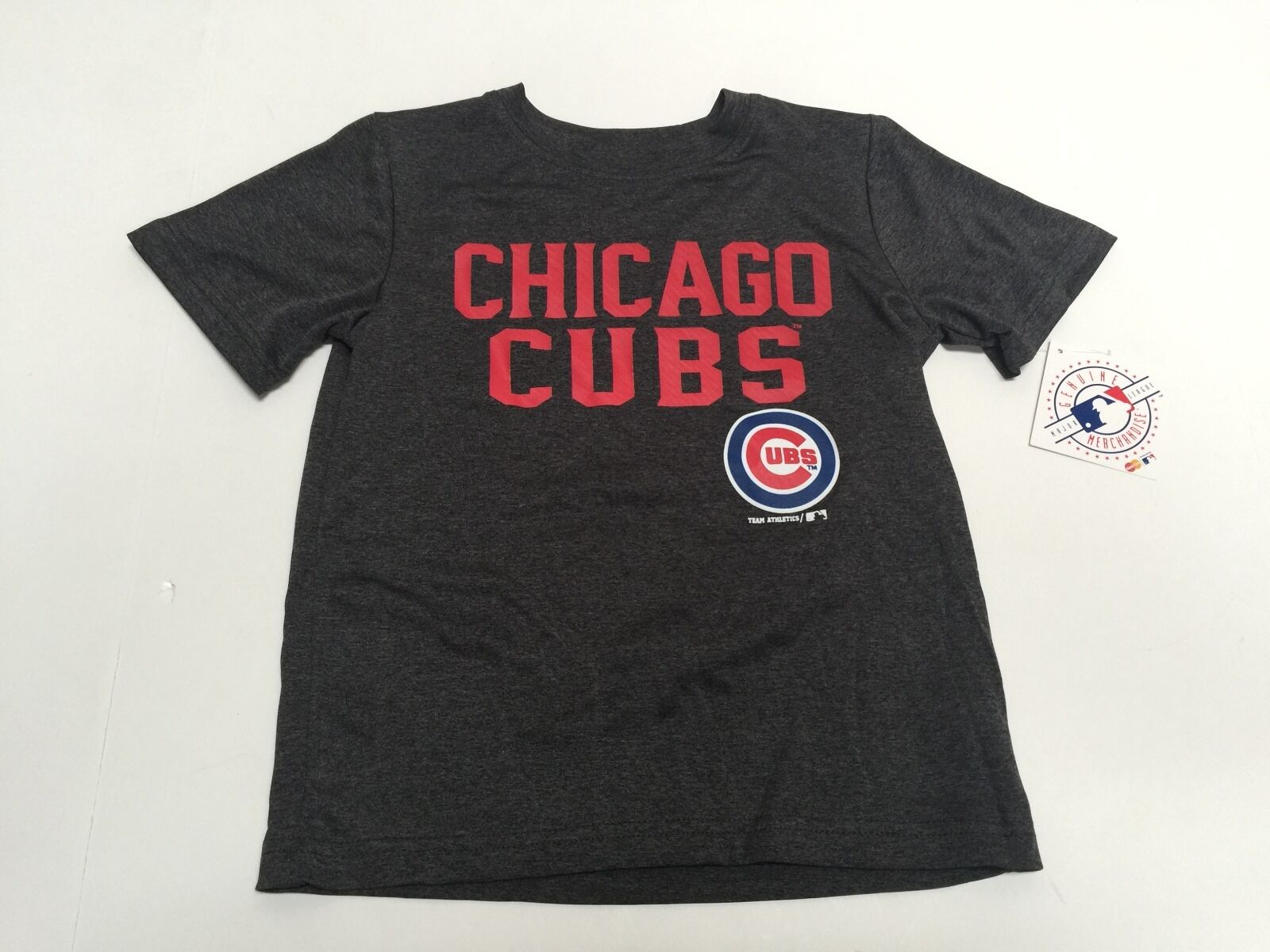 91e488e014b Chicago Cubs Official Merchandise MLB Youth Kids Gray Athletic polyester  Shirt