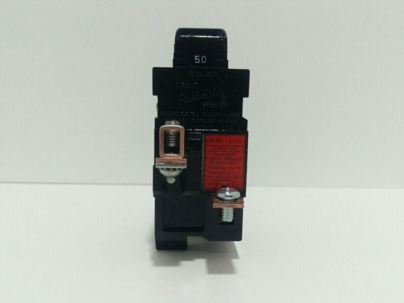 PUSHMATIC P250 2 POLE 50 AMP CIRCUIT BREAKER
