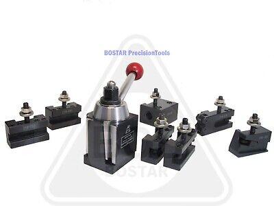Bostar Bxa Wedge Tool Post 250-222 Lathe10-15 W. 2 Extra Tool Holder