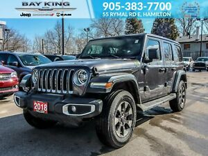 2018 Jeep Wrangler 1 OWNER, HARDTOP, NAV, HEATED SEATS, REMOTE S