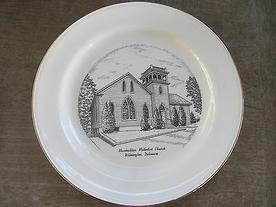 "Vtg. Porcelain approx10"" Plate..Marshallton Methodist Church in Wilmington, DE.."