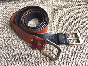 2 Men's Leather Belts - size 34
