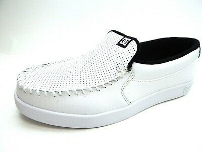 DC VILLAIN WHITE BLACK MEN SHOES SELECT SIZE