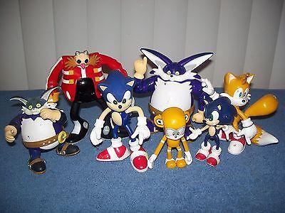 Lot of Sega Sonic Hedgehog Tails Dr Robotnik Big Cat Action Figures - Toy Island