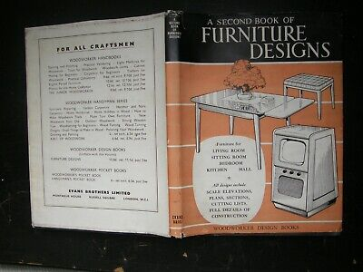 SECOND BOOK OF FURNITURE DESIGNS  1960S WITH FURNITURE PLANS, FREEPOST