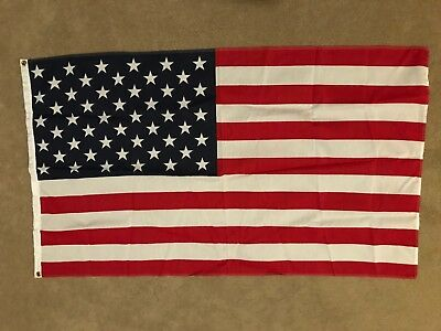American/USA 3' X 5' Heavyweight Cotton/Polyester Flag Factory Sealed Package