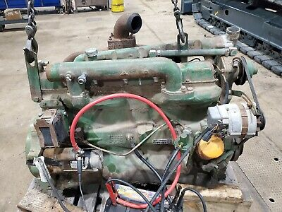 Used John Deere 6329 Engine Running Combine Tractor Wheel Loader