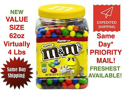 Chocolate Candy Brands (Peanut M&M's Brand Chocolate Candies m and m ~ Candy ~ 62oz Pantry Size )