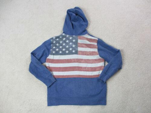 VINTAGE Ralph Lauren Polo Hoodie Sweater Youth Medium Blue Hooded Kids Boys *