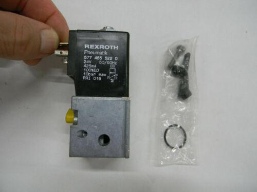 New Bosch Rexroth Pneumatik Directional Valve 577-465-522-0 24v  E3