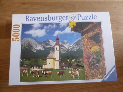 Ravensburger  Tirol, Going gegen Kaisergebirge, 5000 Teile Puzzle Nr. 174034