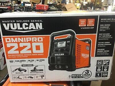 Vulcan 220 Industrial Multiprocess Welder 120240 Volt Input Mig Tig Stick Nib