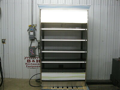 Barker 4 Open Air Refrigerated Multi Deck Grocery Dairy Display Case Cooler