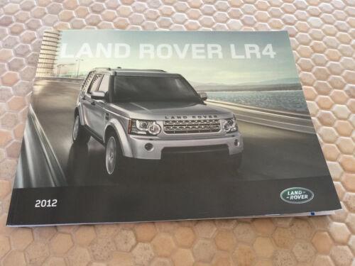 LAND ROVER LR4 5L V8 OFFICIAL PRESTIGE SALES BROCHURE 2012 USA EDITION