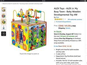 Brand new Baby Wooden Developmental Toy 4W by Alex