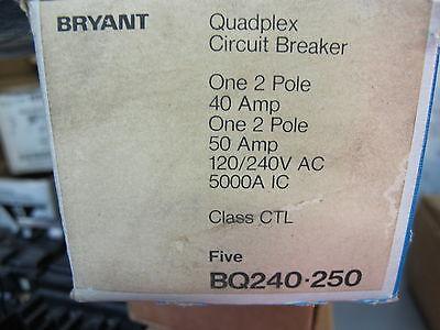 Bryant Bq240250 2 Pole 40 And 50 Amp Tandem Circuit Breaker  New