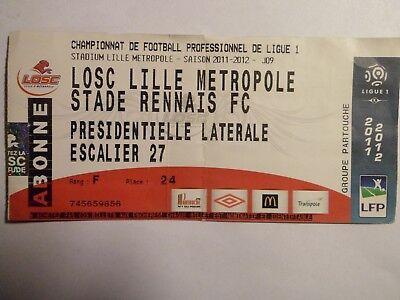 LOSC Lille - Stade Rennais FC - 02/10/2011 - Ticket Football France