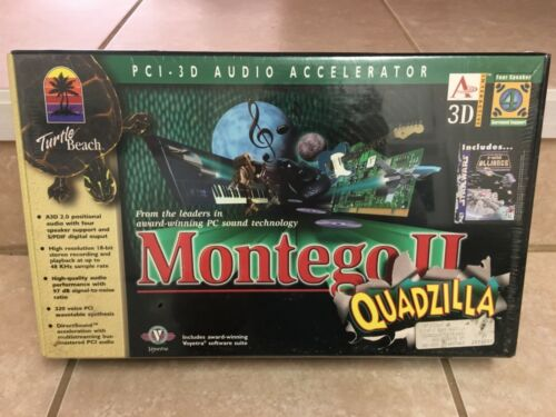 Turtle Beach Montego II Quadzilla Aureal Vortex 2 Sound Card - New & Rare!