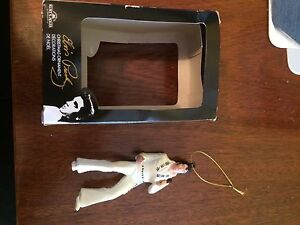 Two Elvis Christmas Ornaments