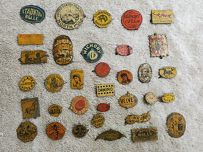 Large Lot Tin Tobacco Tax Tags 65 Rare Pieces Ethnic One of a Kind
