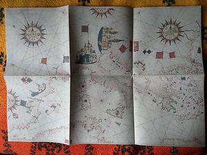Carta nautica del Mediterraneo Ibanet Panades anno 1557 - Italia - Carta nautica del Mediterraneo Ibanet Panades anno 1557 - Italia