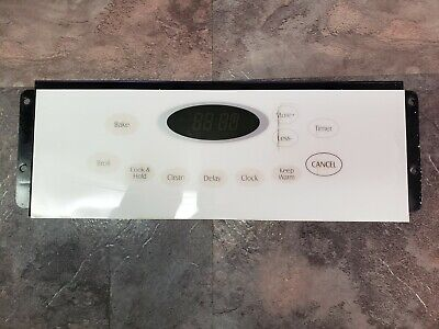 5701M760-60 WHIRLPOOL MAYTAG STOVE OVEN CONTROL BOARD WITH WHITE OVERLAY