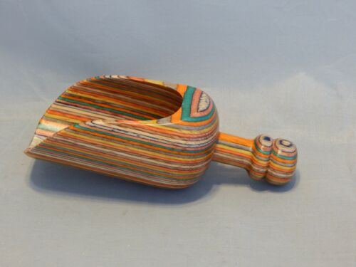 Colorful Hand Turned Wooden Scoop