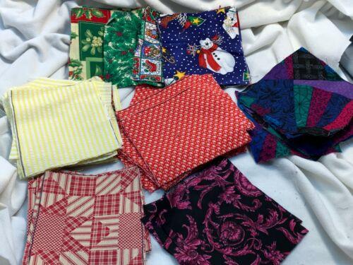 """Vintage 100+ Cut Charm Fabric Squares 5 x 6"""" Cottons"""