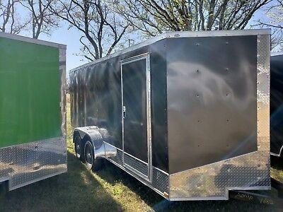 New 7x16 V Nose Enclosed Trailer Utv Rzr 4 Wheeler Ranger Atv