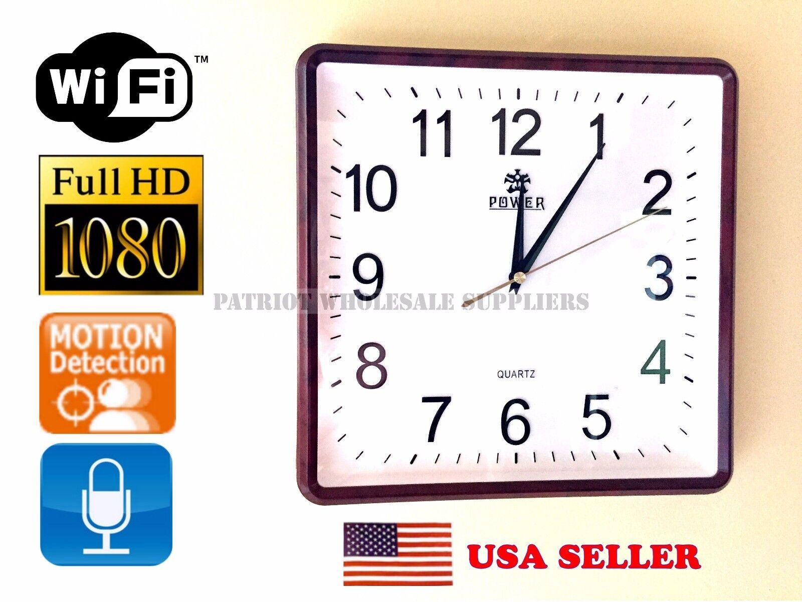 Wifi wall clock image collections home wall decoration ideas 1080p hd wifi ip hidden wall clock spy camera dvr motion detection 1080p hd wifi ip amipublicfo Images
