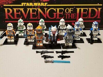 Captain REX 501st & Shaak Ti Jedi lot 11 minifigures clone troopers Star Wars