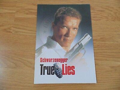 TRUE LIES ORIGINAL 1994 CINEMA MOVIE FILM PRESS BOOK Arnold Schwarzenegger