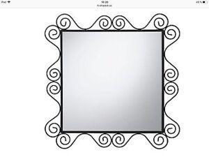 Miroir métal noir-fer forgé Noresund Ikea