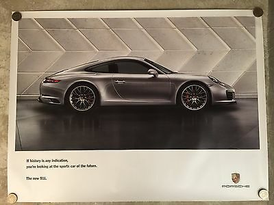 2015 Porsche 911 Coupe Showroom Advertising Sales Poster RARE!! Awesome L@@K