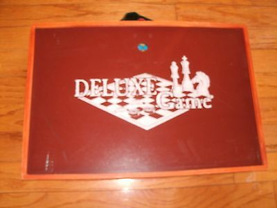Vintage Challenge Master # 9454 Deluxe Game Set Wooden Case of Board Games Chess Deluxe Wooden Chess Set