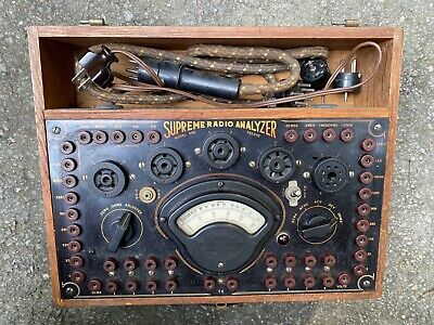 Supreme Radio Analyzer Model 339 Tube Tester W Adapters Etc Vintage