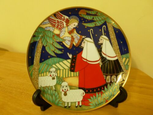 """House Of Faberge Porcelain Collector Plate """"Tidings of Great Joy"""" Franklin Mint"""