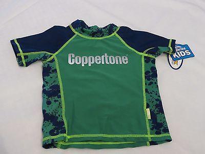 Jungen Rash Guard Shirt (Jungen Jugend Coppertone 5 Schwimmen Rash Guard Shirt Grün Neu Erstklassig)