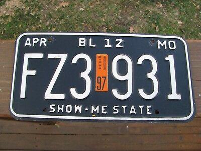 April 1997  Missouri  Truck License Plate