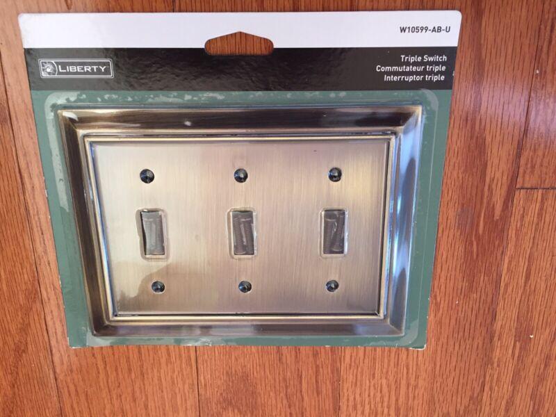 Liberty Triple Switch Plate
