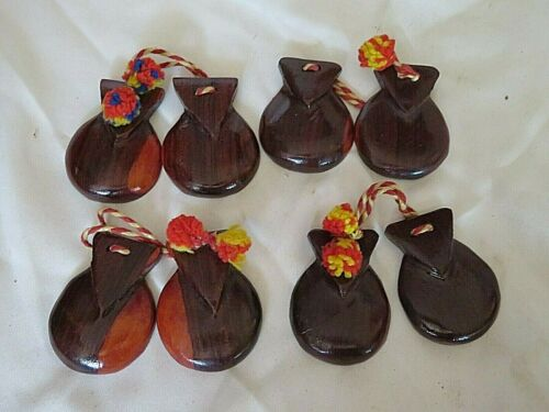 LOT OF 2 PAIRS OF VINTAGE CASTANETS