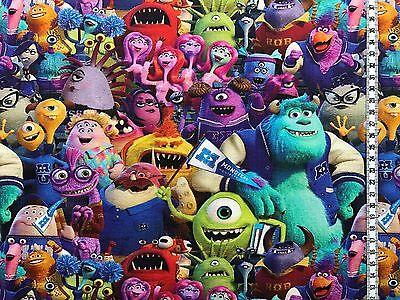 """Jersey """" Monster AG """" Disney - Alle Charaktere - Kinderstoff  gebraucht kaufen  Raunheim"""