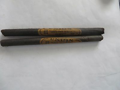 Set Of 2 Union Twist Drill No. 510taper Length High Speed Straight Shank 2564