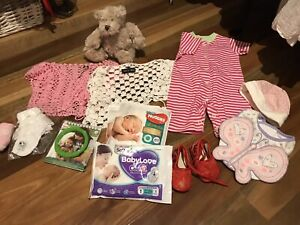 12 new baby girls clothing mixed - teddy bin suit
