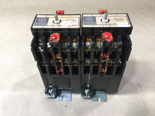 Lot Of 2 General Electric CR120B 080** Industrial Relays Relay 120/110V #02F82