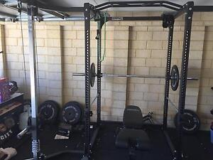 Power cage/ Squat Rack, Oly Bar , weights and mats Wattle Grove Kalamunda Area Preview