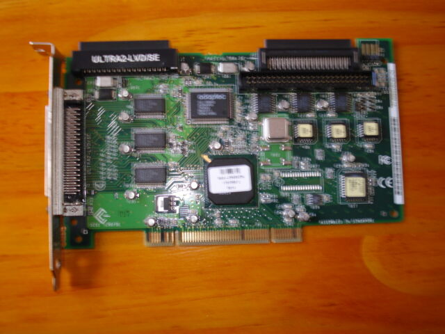 Adaptec AHA-2940U2W dual channel SCSI adapter with 50pin and two 68 pin ports